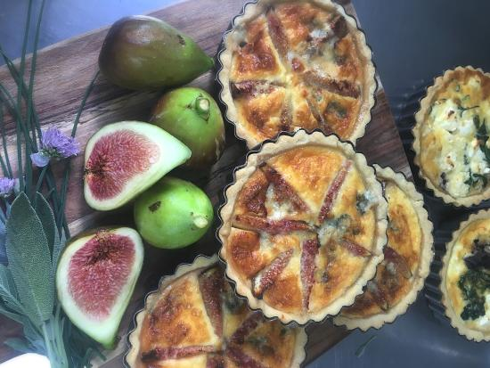 Vancouver Street Cafe: Fresh local figs with blue cheese savoury tart