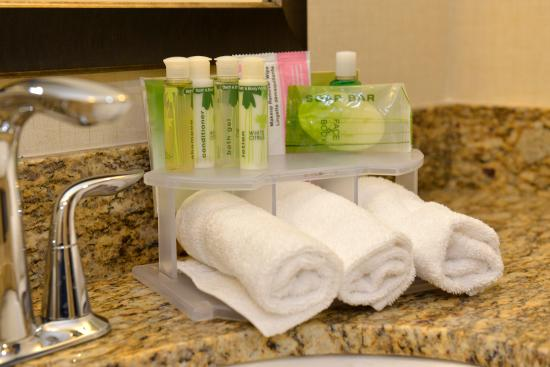 Holiday Inn Express Hotel & Suites Waterloo - St Jacobs : All bathroom amenities are from Bath & Body Works.