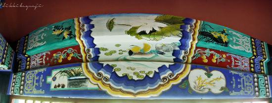 Hairui's Tomb: Detail gambar yang menarik di bagian balok bangunan