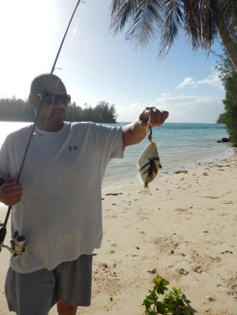 The Navigator: Fishing in the Muri Lagoon- it is a catch and release sinc eyou cannot eat the fish in the lagoo