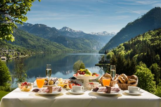 Seeblick Restaurant: Restaurant SEEBLICK - Breakfast with the most beautiful view of the Alps