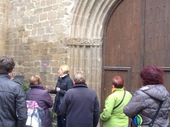 Sanguesa, Spanyol: durante la visita