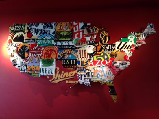 American Beer By States Picture Of Red Robin Gourmet Burgers - Us-beer-map-red-robin
