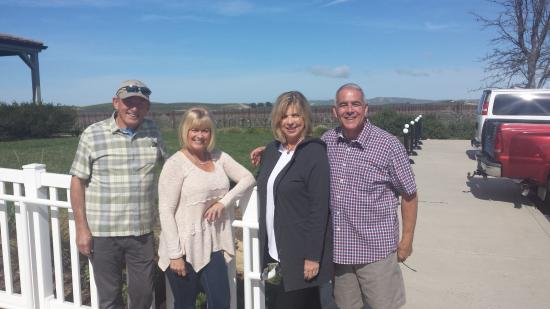 Wine Wrangler - Day Tours : Our first stop at JLohr, Pauley took our picture!