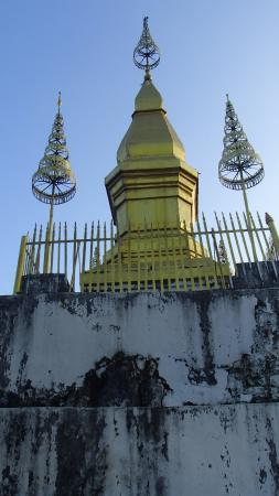 Mount Phousi : Wat Chom Si (Chomsey Hill) and stupa are both situated.