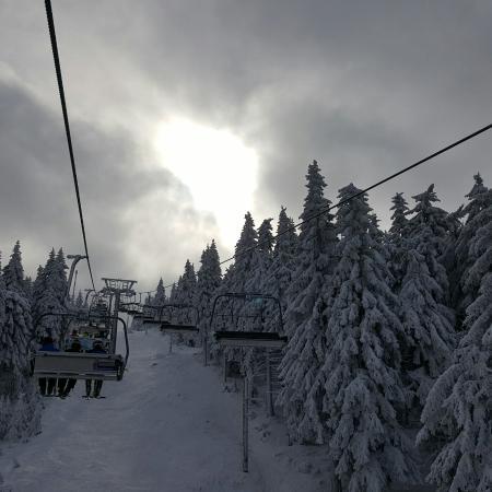 Vejprty, République tchèque : Skifahren auf dem Klínovec