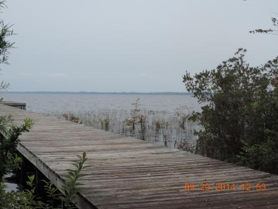 N C Lake Waccamaw State Park Pier Off Boardwalk With Gazebo