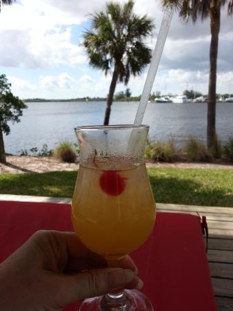 Port Saint Lucie, FL: Enjoying a Mai Tai on a lounger