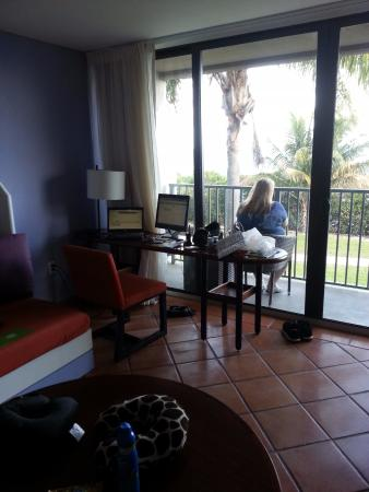 Club Med Sandpiper Bay: Great work space, but bring a power strip as there are only two plugs near the desk.