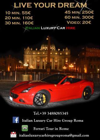 Price List Picture Of Italy Luxury Car Hire Rome Tripadvisor