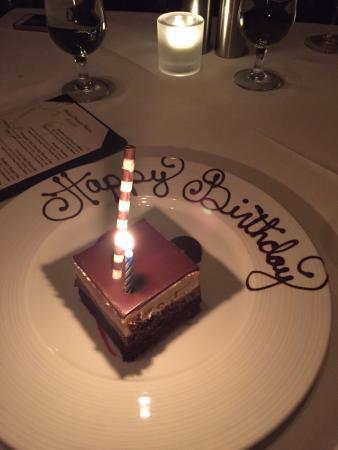 dessert celebrating birthday picture of the signature room at the rh tripadvisor co nz