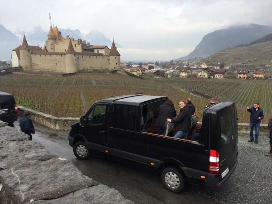 Swiss Riviera Wine Tours Touring With A Convertible Mercedes Sprinter Bus