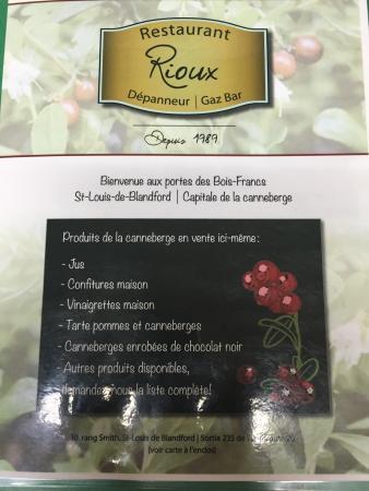 Princeville, Canada : Restaurant Depanneur Rioux