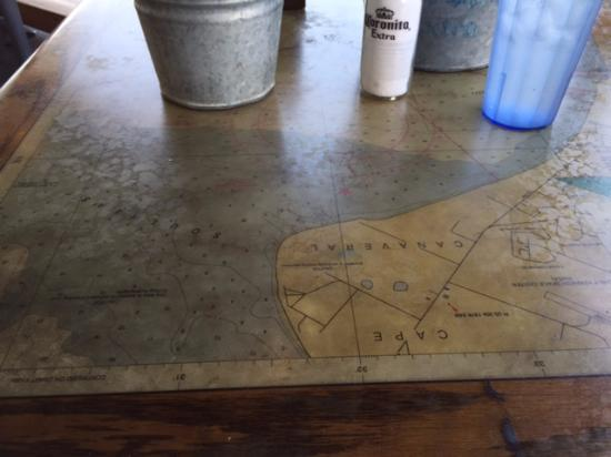 interesting table tops old maps picture of joes crab shack fort rh tripadvisor com