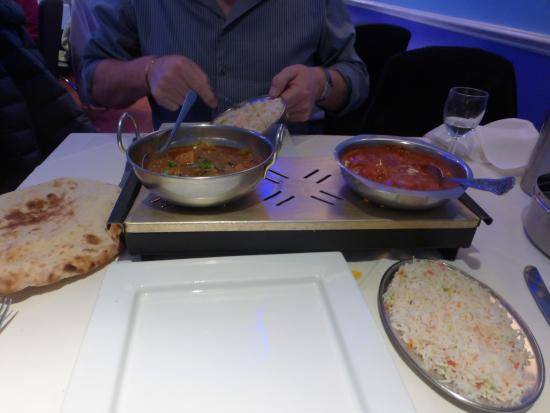 Curry Queen Restaurant: Chicken tikka and chicken balti