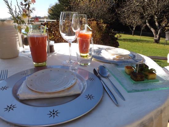 Boisset, Γαλλία: jus de fruits fait maison pour l'apéro....