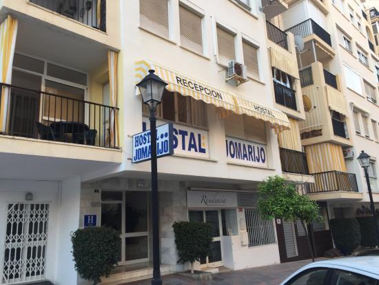 Hostal Jomarijo: he estado en la habitación cinco conexión Wi-Fi excelente cama buena matrimonio tele bien bomba