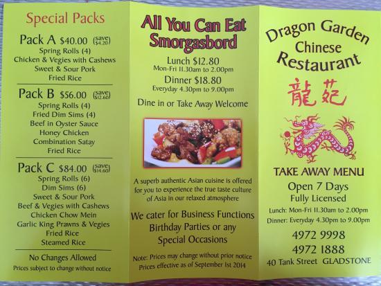 Dragon Garden Chinese Restaurant - Picture of Dragon Garden Chinese ...