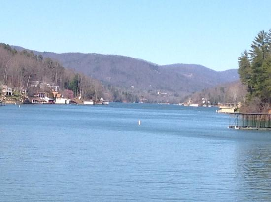 Lake Lure, Carolina del Norte: View from cafe