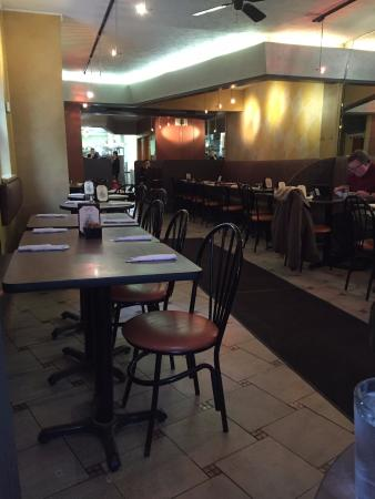 Sinbad's Mediterranean Cuisine: View from front window toward the kitchen