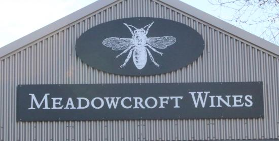 Meadowcroft Wines: The sigh on the tasting room building.