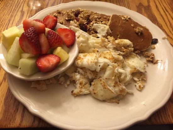 Highland Park, IL: Healthier Alternative- Trio egg whites, fresh fruit, wheat germ/granola pancakes