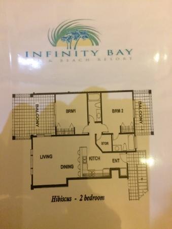 Infinity Bay Spa and Beach Resort: Plan du condo