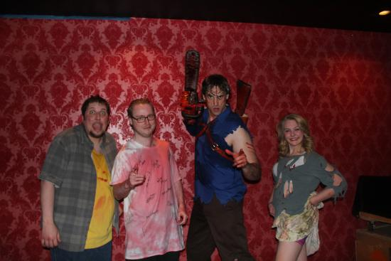 7f3f935bb90c Evil Dead The Musical  With the brilliant cast. Covered in fake blood I was