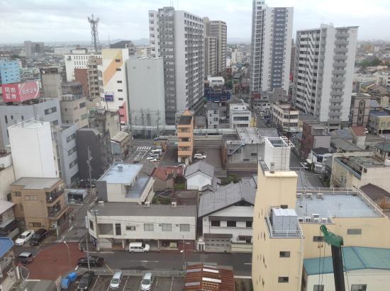 Hotel Route Inn Ichinomiyaekimae: 客室からの外観