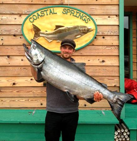 Coastal Springs Float Lodge : 60 lb chinook salmon