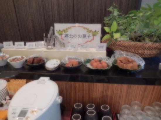 Silk Inn Kagoshima: 朝食:郷土のお菓子コーナー