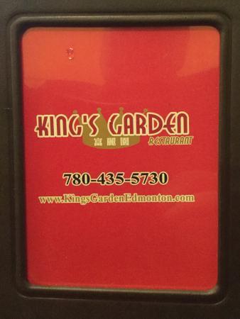 Kingu0027s Garden Noodle House: Menu Cover