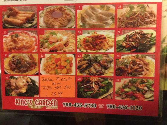 Kings Garden Chinese Food Edmonton Menu All The Best Garden In 2018