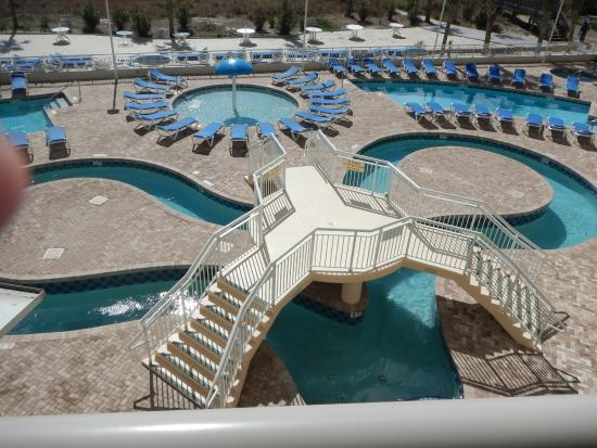 From our balcony picture of avista resort north myrtle - Indoor swimming pool myrtle beach sc ...