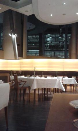 Restaurant Lesage: VW car plant behind Lesage Restaurant