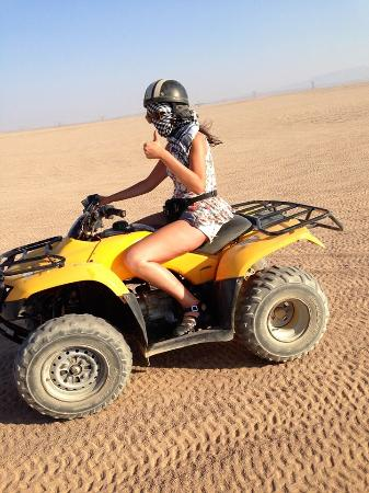 New Valley Governorate, Egipto: Quad bike in the desert!