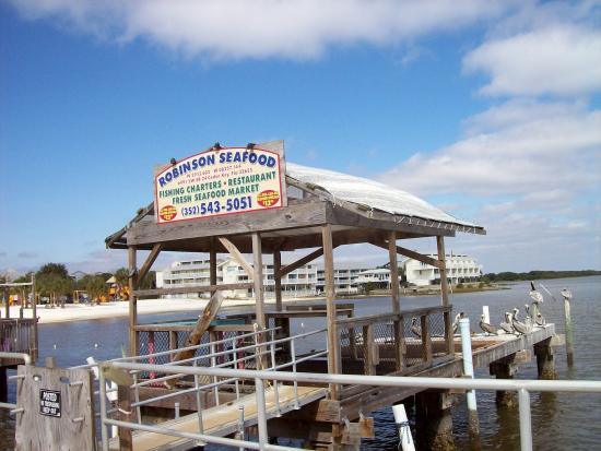 Robinson's Seafood: Where the fresh fish comes in for Robinson Restaurant... or you can go out.