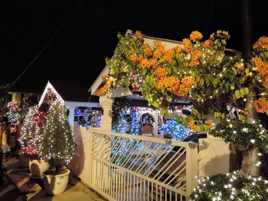Portuguese Settlement Housing Full Of Christmas Decoration
