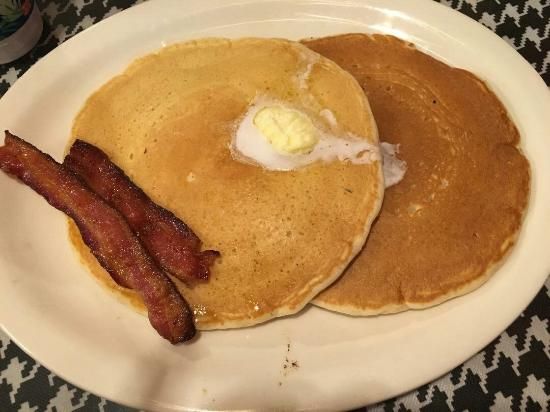 Haslett, MI: Kids pancakes with bacon