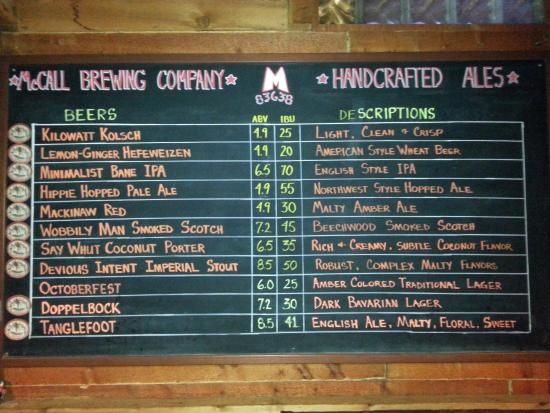 McCall Brewing Company: Plenty of beers on tap