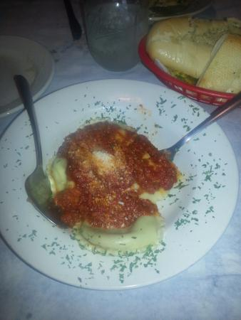 The Italian Oven: Meat Ravioli, lunch portion