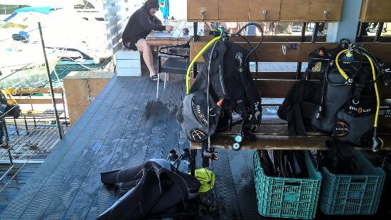 Bex is ok d picture of deep blue diving base caleta de - Deep blue dive centre ...