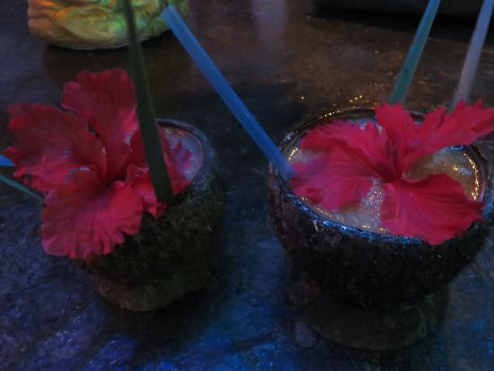 Maskall, Belize: Welcome drinks - Rum Punch