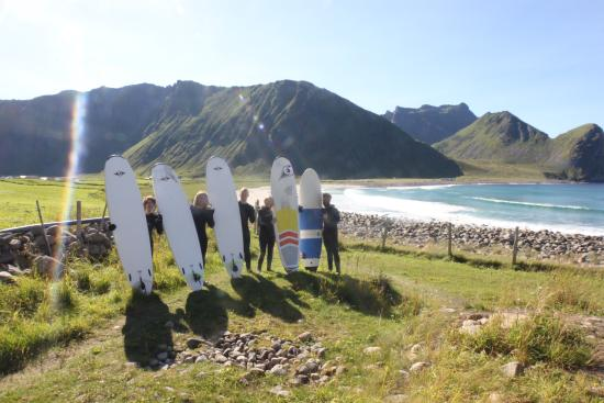 Vestvagoy, Norvège : Surflessons at Unstad Beach, small groups only, high quality.