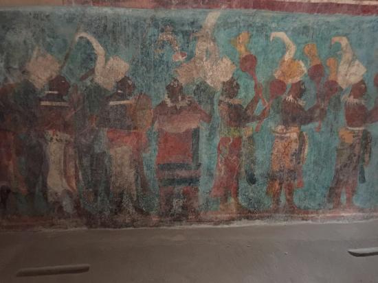 Picture of mayan ruins of bonampak chiapas for Bonampak mural painting