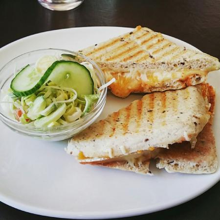 Zesty Cheese Panini from Ma Belle's Cafe in Dartmouth was delicious!