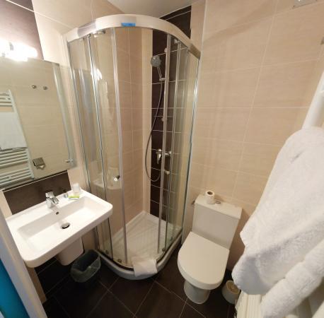 Le Lion D'or : Salle de bain chambre standard