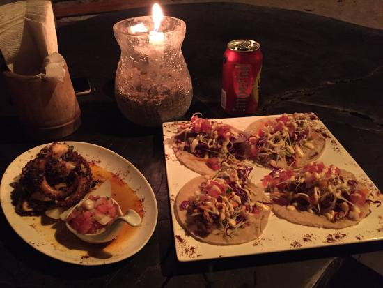 Roca Mar: fish tacos and grilled octopus