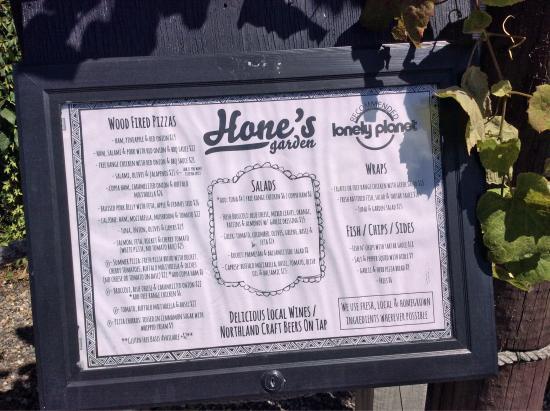 Hone's Garden : Hone's Pizza, Salad & Beer Garden