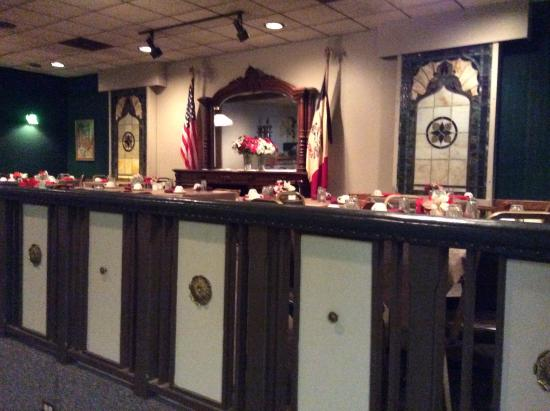 Denison, IA: banquet room at the restaurant